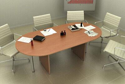 Tavolo Riunione ovale per ufficio colore noce chiaro L 220 ...