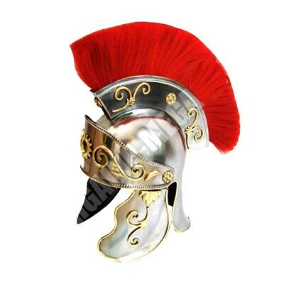 Roman Centurion Officers Galea Helmet Forged 18G Carbon Steel Hair Plume