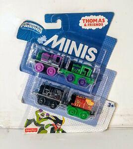 Thomas-amp-Friends-Minis-DC-Super-Friends-Train-Set-4-PACK-Riddler-Catwoman