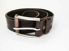 Vintage French Sun Valley Mens Leather Belt Brown