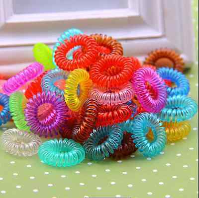 12pcs Colorful Girl Elastic Rubber Hair Ties Band Rope Ponytail Holder Bracelets