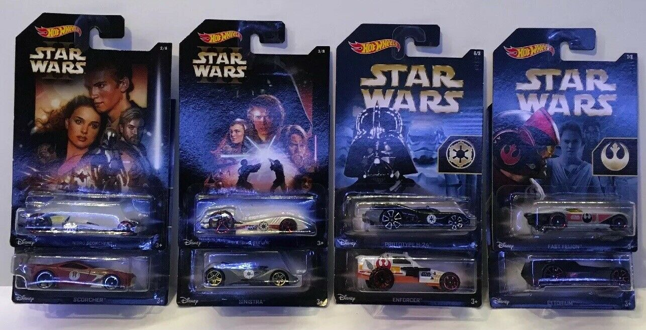 HOTWHEELS STAR WARS COLLECTION SET. COLLECTORS MODELS.