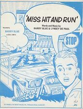 Miss Hit and Run - Barry Blue & Lynsey De Paul - 1974 Sheet Music