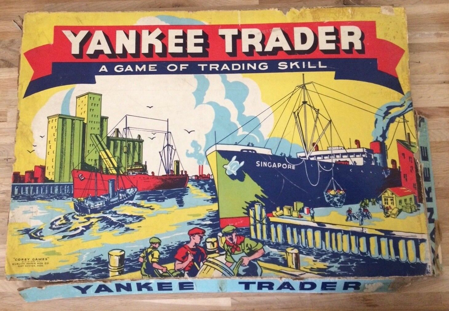 VINTAGE Yankee Trader RARE early Board Game 1941 Corey Marchand Commerce Maritime