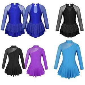 Toddler-Girls-Ballet-Dance-Dress-Leotard-Gymnastics-Figure-Ice-Skating-Costume