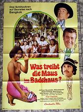 Was treibt die Maus im Badehaus? * A1-Filmposter -German 1-Sheet 1976 EROTIK