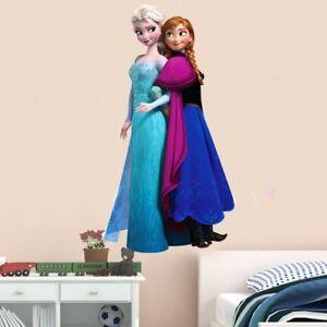 Frozen Sisters Elsa Anna children Nursery Wall Sticker Decal Decor Large Kid Art