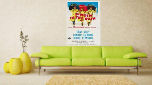 Singin/' in the Rain 1952 Retro  Movie Poster A0-A1-A2-A3-A4-A5-A6-MAXI 285