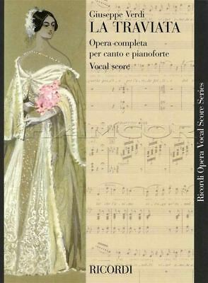 Competent Verdi La Traviata Opera Completa Complete Vocal Score Music Book 9790041330600 Beneficial To Essential Medulla Musical Instruments & Gear Instruction Books, Cds & Video