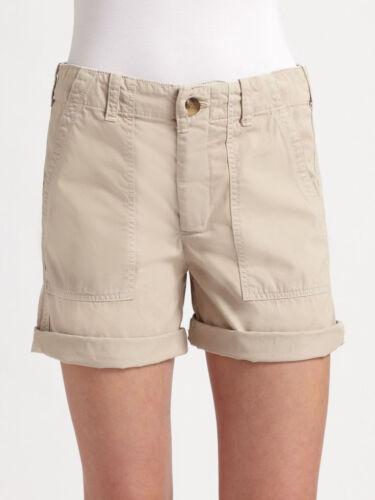 kaki color cotone Nwt Pantaloncini 100 dune con cinturino Denim attillati 24 175 Sz Vince color qwxvrTq7O