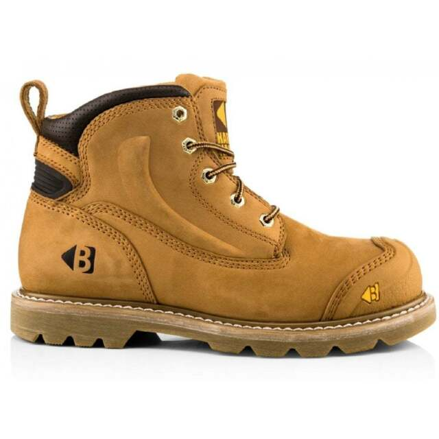 7b29922edc0 BUCKLER B650SM WIDE FIT SAFETY WORK BOOTS TAN HONEY NUBUCK LEATHER (SIZES  7-13)