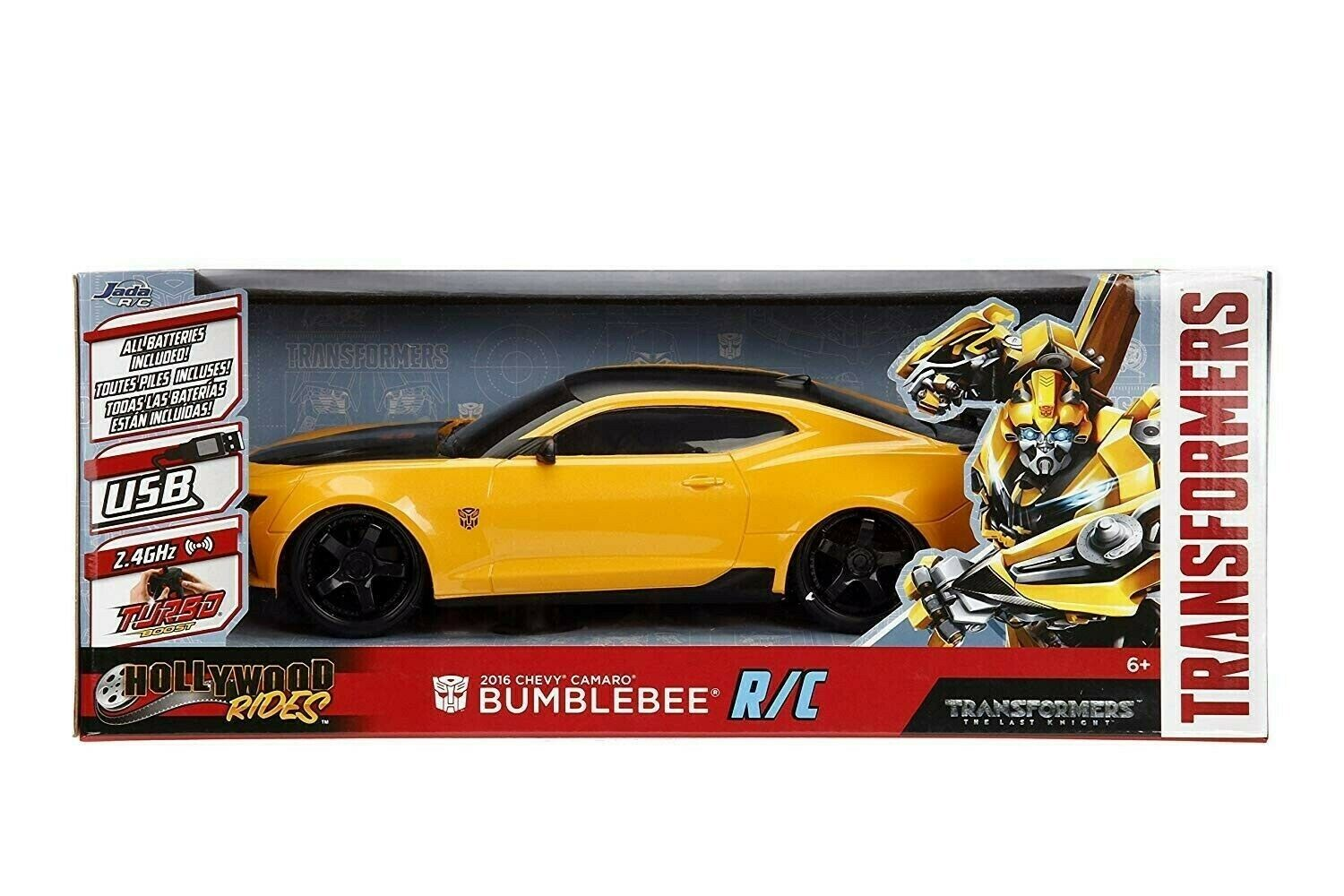 Transformers 2016 Chevy Camaro Jada Hollywood Rides The Last Knight Bumblebee RC