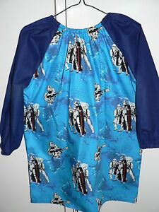 Details about Kids Paint Art Smocks Long Sleeve Star wars Print 4 years to  10 years old