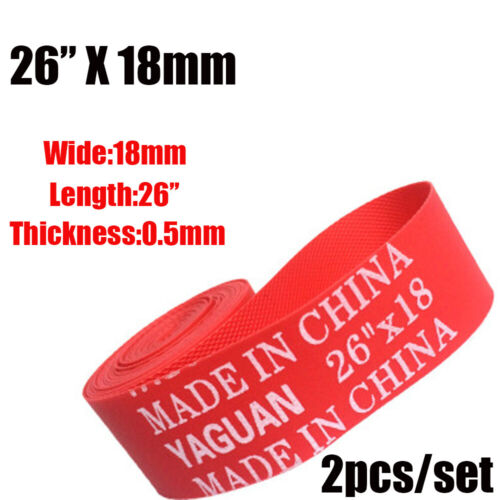 Rim Liner Red New Bike Inner Tube Pad Anti Puncture Tape Bicycle Tire Liner
