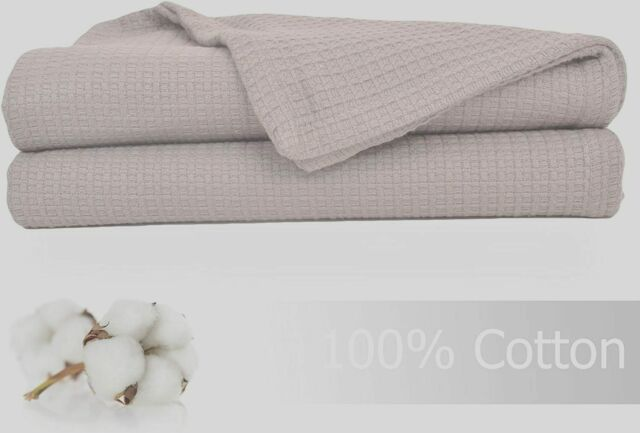 Select Color * FAST SHIPPING * Vellux Cotton Woven Blanket FULL//QUEEN
