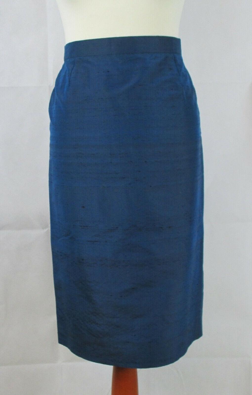 Lürman Modelle,  Seidenrock in dunkelblau,  Größe 42