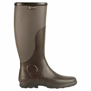 Details about Aigle Rubber Boots Rboot for Womens and Mens Sizes 36 to 48 Brown, Dove show original title