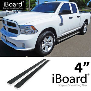 Dodge Ram Running Boards >> Details About Running Board Side Step Nerf Bars 4in Silver Fit Dodge Ram 1500 Quad Cab 09 18