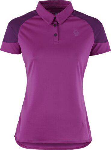 Scott Trail MTN 30 Short Sleeve Womens Cycling Polo Purple