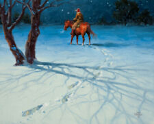 """Jack Sorenson /""""Five Cold Miles from Coffee/"""" Cowboy Beef SN Print 24/"""" x 18/"""""""