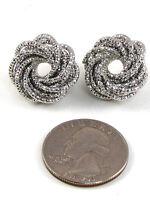 Silver Earrings Post .75