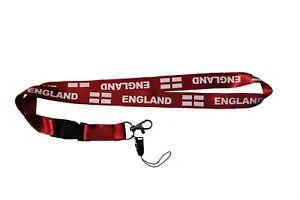 ENGLAND COUNTRY FLAG LANYARD KEYCHAIN PASSHOLDER . NEW