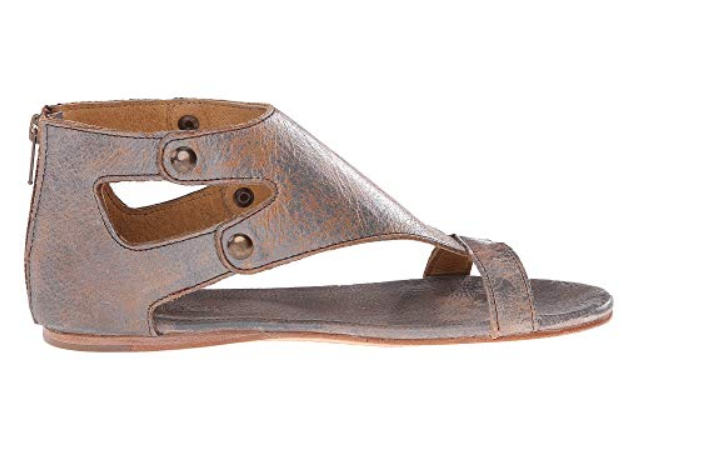 New in Box Bed Stu Women's Women's Women's Soto Leather Sandals Silver Lux Leather Sizes 7 & 9 bfdd56