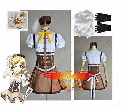 Puella Magi Madoka Magica Mami Tomoe Dress Cosplay Costume Adult Custom C0150