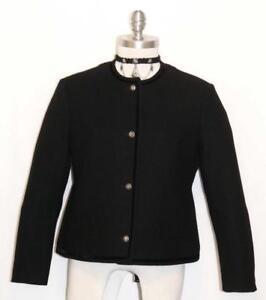 Mujeres Lana Lodenfrey Elegante Alemán Negra Cocidos Chaqueta De zxpqw5nY