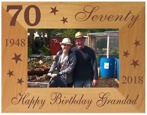 Image Is Loading PERSONALISED 70TH BIRTHDAY GIFT PHOTO FRAME DAD GRANDPA