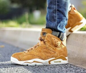outlet store a5274 3cc8d Image is loading 2017-Nike-Air-Jordan-6-VI-Retro-Wheat-