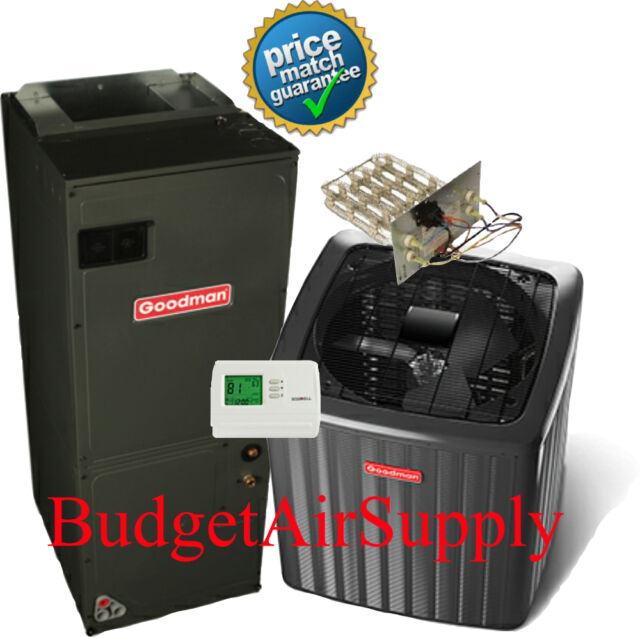 1.5 Ton Goodman A/C 16 Seer Air Conditioning Split System GSX160181+ASPT24B14