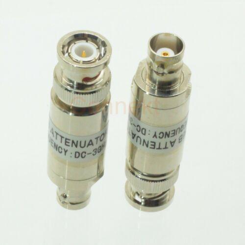1pce BNC 2W male to female RF Coaxial Attenuator DC 3.0GHz 30dB 50ohm