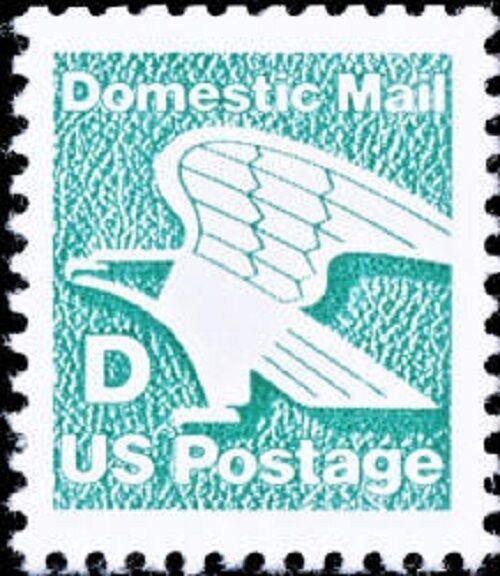 """1985 22c """"D"""" Rate Eagle Scott 2111 Mint F/VF NH"""