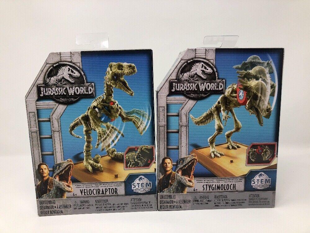 Jurassic World 2 Velociraptor & & & Stygimoloch S.T.E.M. Fossil Strikers 5227ef
