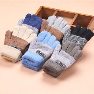 Newborn Infants Baby Girls Boys Winter Warm Knitted Gloves Toddler Kids Mittens