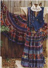 DOS de TEJAS Patterns Sewing Pattern F113 Misses' Broomstick Skirt Directions