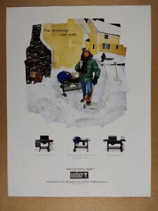 2001 Weber Performer & Genesis Grills vintage print Ad