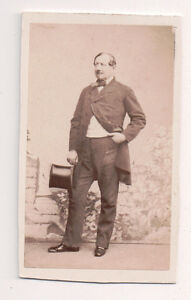 Vintage-CDV-French-aristocrat-Top-hat-Second-Empire-Dandy-F8