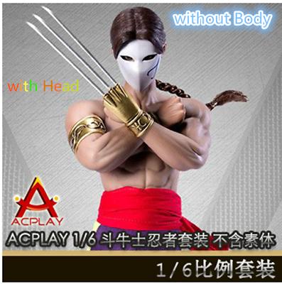 ACPLAY 1//6 Street Fighter Matador Ninja Set w//Head Carving ATX045 Toys Clothing