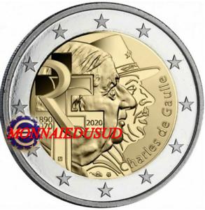 2-Euro-Commemorative-France-2020-Charles-De-Gaulle-UNC-NEUVE