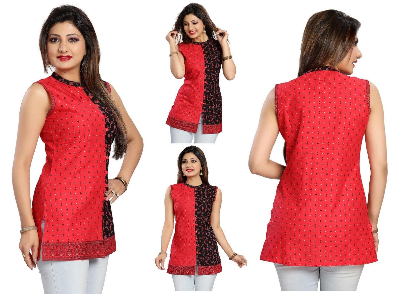 Unifiedclothes® COTTON WOMEN FASHION INDIAN KURTA KURTI TUNIC COTTON SHIRT MM124