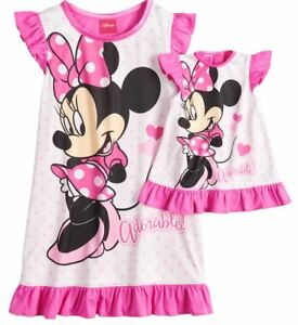 Girl-2T-4T-and-Doll-Matching-Minnie-Nightgown-Clothes-American-Girls-Dollie-Me