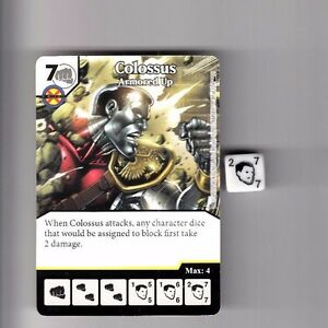 COLOSSUS ARMORED UP 89 Deadpool Dice Masters Rare