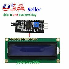 1602 16x2 LCD Character Display Blue+ IIC/I2C/TWI/SPI Serial Interface Board