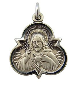Sterling-Silver-Trinity-Scapular-Medal-with-Our-Lady-of-Mt-Carmel-Back-7-8-Inch