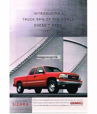 Classic Vintage Advertisement Ad D07 1988 GMC Sierra Pickup Truck red