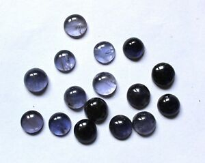 41-50-Ct-Natural-Iolite-Gemstone-Round-9-TO-9-5mm-Cabochon-Wholesale-Lot-S243