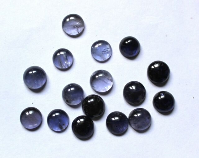 41.50 Ct Natural Iolite Gemstone Round 9 TO 9.5mm Cabochon Wholesale Lot S243