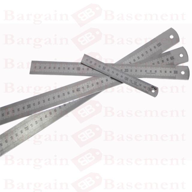 """12"""" Stainless Steel Ruler Metal Rule Dual Double Markings Metric & Imperial NEW"""